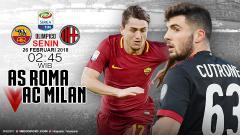 Indosport - Prediksi AS Roma vs AC Milan.