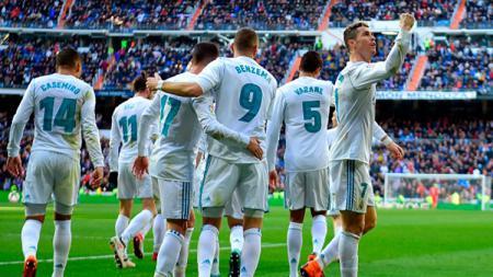 Cristiano Ronaldo dan pemain Real Madrid lainnya. - INDOSPORT