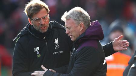 Marcus Rashford menyebutkan bahwa David Moyes (kanan) adalah pelatih Manchester United yang paling berjasa baginya. - INDOSPORT