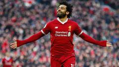 Indosport - Mohamed Salah melakukan selebrasi.