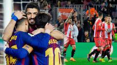 Indosport - Barcelona menang banyak atas Girona dengan skor 6-1.