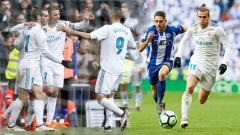 Indosport - Real Madrid menang banyak atas Deportivo Alaves dengan skor 4-0 tanpa balas.