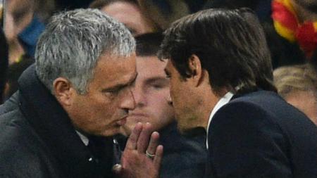 Perselisihan antara dirinya dan Antonio Conte tak membuat Jose Mourinho tutup mata dan tetap menginginkan Inter Milan dapat meraih Scudetto. - INDOSPORT