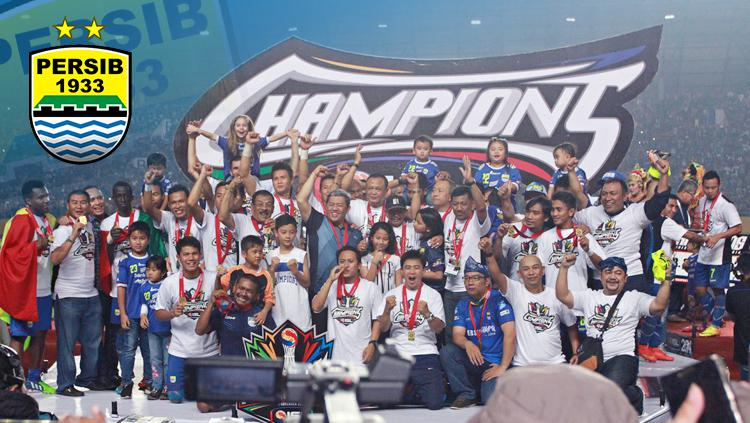 Momen Persib Bandung saat juara Liga Indonesia 2014. Copyright: INDOSPORT
