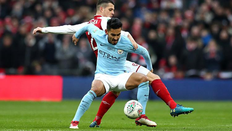 Arsenal vs Man City di Final Piala Liga Inggris. Copyright: INDOSPORT