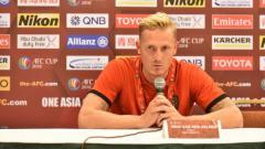 Indosport - Nick van der Velden dalam jumpa pers.