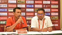 Indosport - Widodo Cahyono Putro dalam jumpa pers.