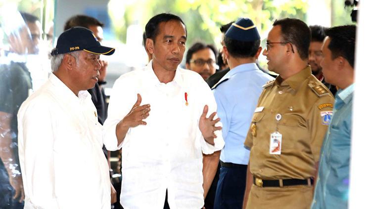 Presiden RI, Joko Widodo melalukan tinjauan langsung ke wisma atlet Kemayoran. Copyright: INASGOC