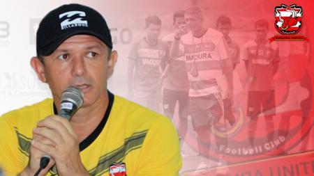 Gomes de Oliviera resmi mundur dari kepelatihan Madura United. - INDOSPORT