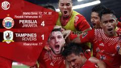 Indosport - Hasil pertandingan Persija Jakarta vs Tampines Rovers.
