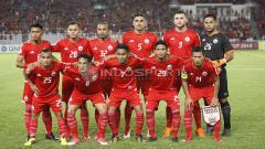 Indosport - Skuat Persija Jakarta yang berhadapan dengan Tampines Rovers.