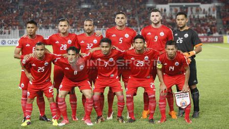 Skuat Persija Jakarta yang berhadapan dengan Tampines Rovers.