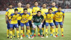 Indosport - Skuat Tampines Rovers yang menghadapi Persija Jakarta.