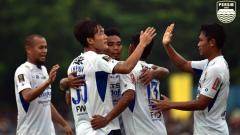 Indosport - Selebrasi Para pemain Persib Bandung.