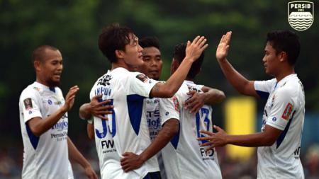 Selebrasi Para pemain Persib Bandung. - INDOSPORT