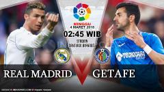 Indosport - Real Madrid vs Getafe.