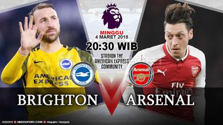Prediksi Brighton & Hove Albion vs Arsenal - INDOSPORT