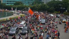 Indosport - Konvoi Jakmania di Jakarta