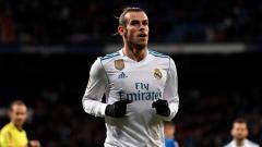 Indosport - Gareth Bale usai mencetak gol pertama saat melawan Getafe.