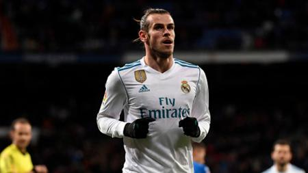 Gareth Bale usai mencetak gol pertama saat melawan Getafe. - INDOSPORT