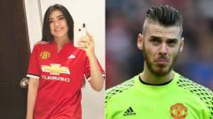 Indosport - Via Vallen dan De Gea.