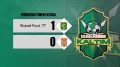 Indosport - Hasil akhir perebutan tempat ketiga Piala Gubernur Kaltim: Persebaya 1-0 Borneo FC.