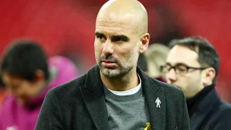 Pep Guardiola masih kenakan pita kuning - INDOSPORT