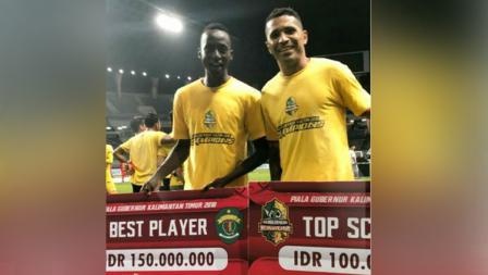 Makan Konate sebagai pemain terbaik dan Alberto Goncalves sebagai top skor Piala Gubernur Kaltim 2018.