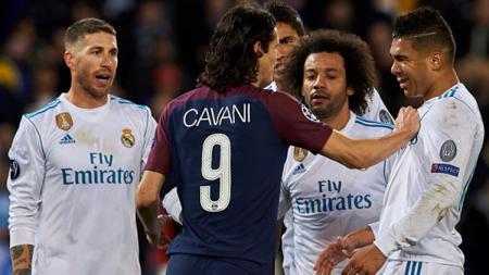 Laga PSG vs Real Madrid pada Liga Champions tahun 2018 lalu. - INDOSPORT