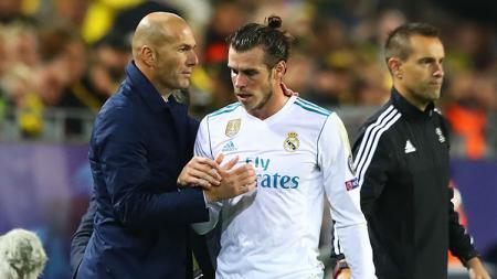 Zinedine Zidane dan Gareth Bale - INDOSPORT