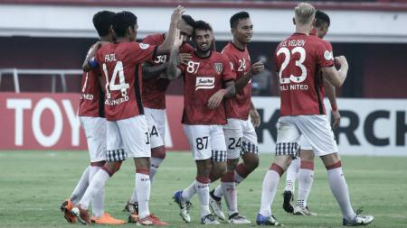 Selebrasi para pemain Bali United. - INDOSPORT