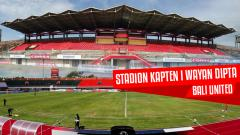 Indosport - Datang ke Bali, Pahlawan Inter Milan Terkesan dengan Kualitas Stadion Kapten I Wayan Dipta.