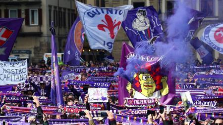 Para pendukung Fiorentina. - INDOSPORT
