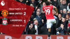 Indosport - Hasil pertandingan Man United vs Liverpool.