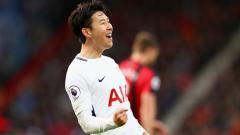 Indosport - Son Heung-Min berselebrasi usai membobol gawang Bournemouth.