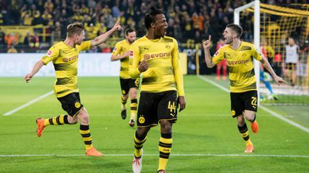 Michy Batshuayi berhasil membawa Dortmund menang atas Eintracht Frankfurt dengan mencetak 2 gol. - INDOSPORT