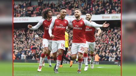 Skuat Arsenal 2017/18. - INDOSPORT