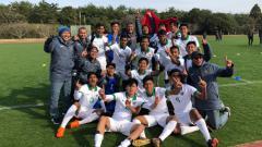 Indosport - Timnas Indonesia U-16 saat menjadi juara di turnamen Jenesys 2018.