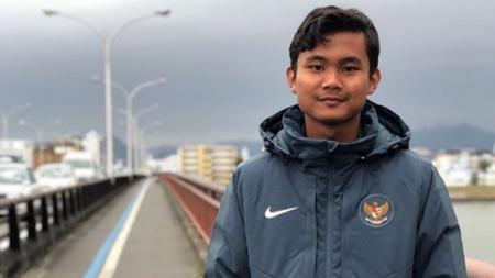 Bek timnas Indonesia U-19, Komang Teguh. - INDOSPORT