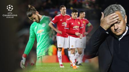 Manchester United tertunduk lesu. - INDOSPORT