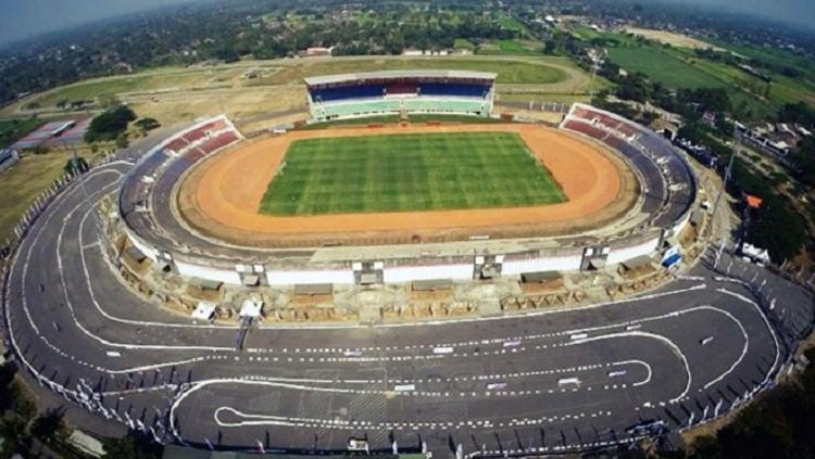 Potret Stadion Sultan Agung Bantul dari ketinggian. Copyright: Istimewa