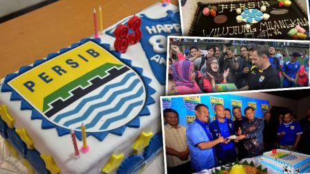 Kue ulang tahun Persiib Bandung tahun ke tahun. - INDOSPORT