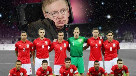 Stephen Hawkings dan skuat Timnas Inggris. - INDOSPORT