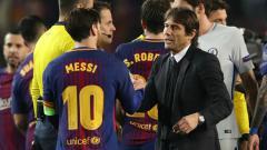 Indosport - Lionel Messi dan Antonio Conte