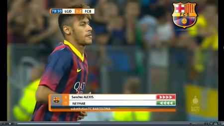 Debut Neymar bersama Barcelona melawan Lechia Gdanks. - INDOSPORT