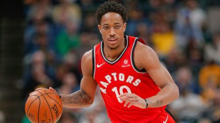 DeMar DeRozan saat laga Toronto Raptors vs Indiana Pacers. - INDOSPORT