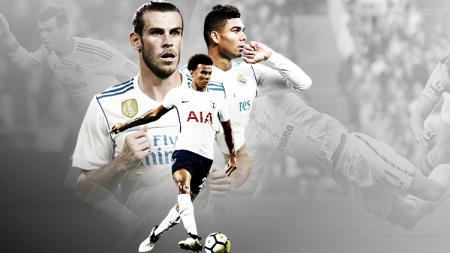 Casemiro, Dele Alli, dan Gareth Bale. - INDOSPORT