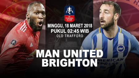 Prediksi Manchester United vs Brighton & Hove Albion. - INDOSPORT
