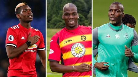 Paul Pogba, Mathias Pogba, dan Florentine Pogba. - INDOSPORT