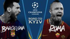 Indosport - Barcelona vs Roma di babak 8 besar Liga Champions